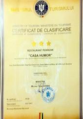 CERTIFICAT DE CLASIFICARE RESTAURANT